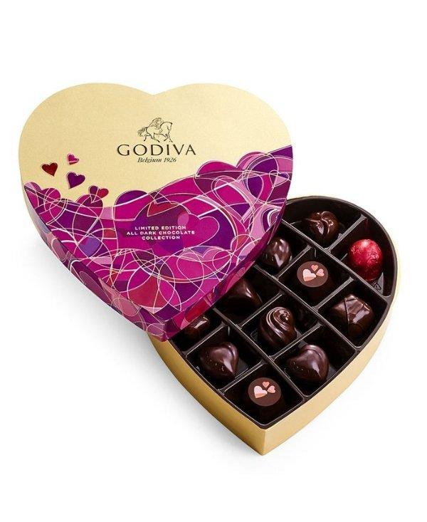 情人节黑巧克力14颗礼盒