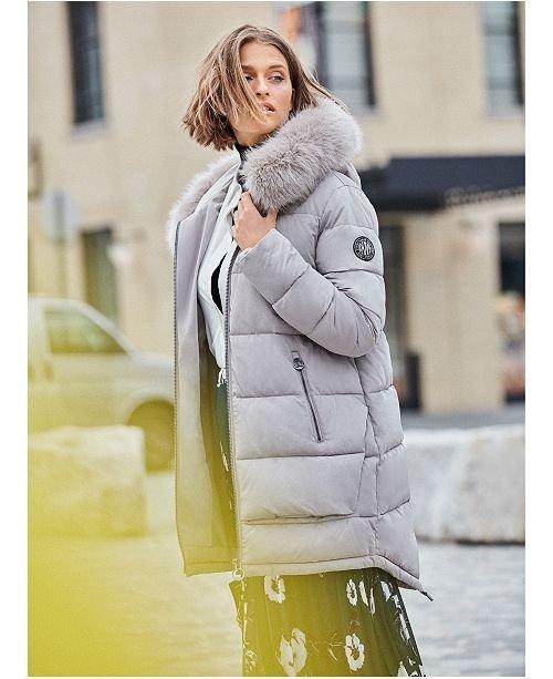 毛毛领大衣