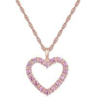 Macy's 粉色心形项链