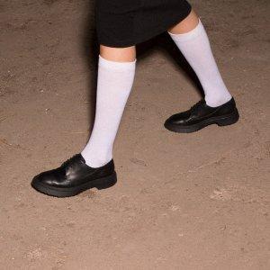 女款中性皮鞋