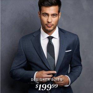 现价$199.99(原价$699.99)Calvin Klein 精选男士西装外套热卖