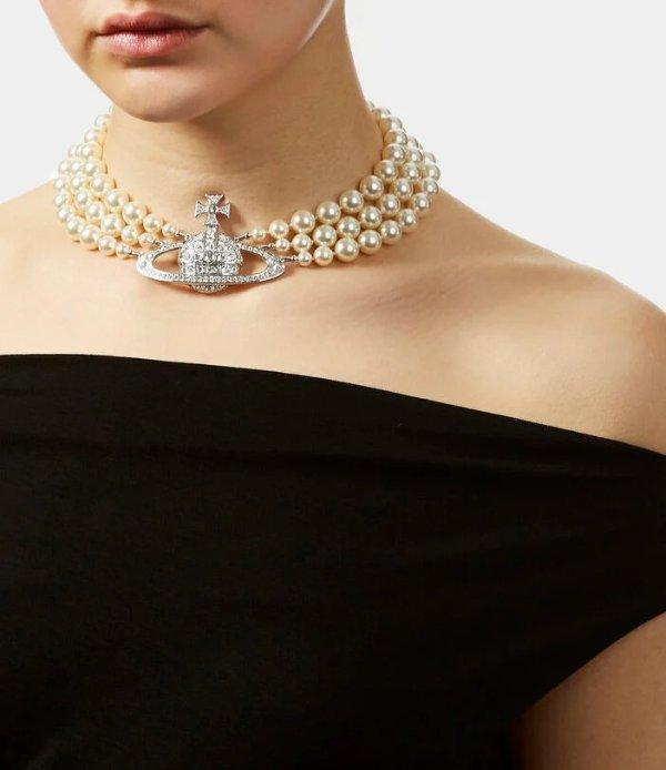 断货王爆款3层珍珠项链