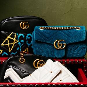 低至5折 蜜蜂小白鞋$492Gucci 精选美包、美鞋热卖 丝绒链条包$1113
