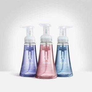 $18.5(原价$26.82) $3/瓶手慢无:Method 泡沫型洗手液 6瓶x300ml 居家必备 保护双手