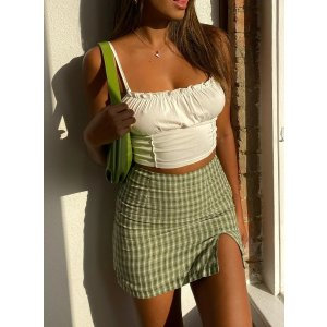 10% Off $50+Miss Sally Mini Skirt Green