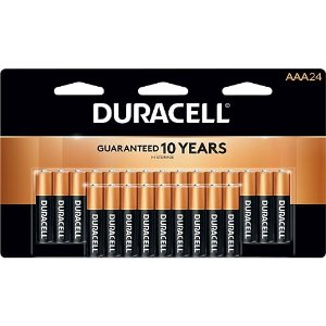 $12.99Duracell Coppertop AAA Alkaline Batteries, 24/Pack