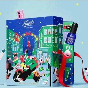 变相4.4折+多款圣诞套装上线Kiehl's官网 2021圣诞日历 仅€89(价值超€200)还送多重好礼
