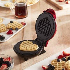 $6.97Dash  爱心型华夫饼机 甜进心里的爱心早餐