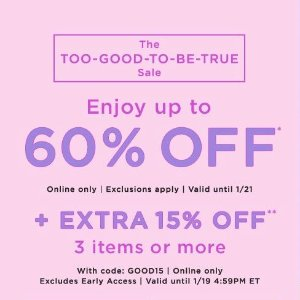 Up to 75% Off + Extra 15% OffLOFT Outlet Sales