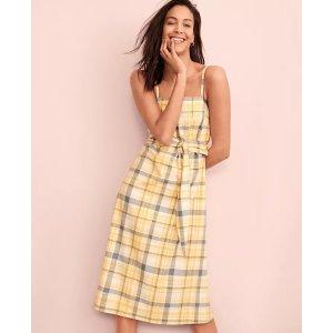 Ann Taylor15% off $100Plaid Belted Midi Dress