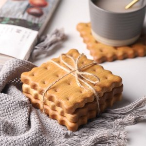 Beech Wood Biscuit Coasters from Apollo Box