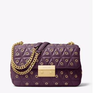 01006bf6e9f843 Michael Kors Sloan Large Quilted-Leather Shoulder Bag. Michael KorsSloan  Grommeted Leather Shoulder Bag