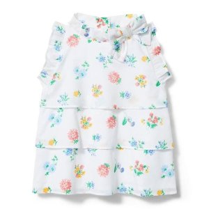 Janie and JackTiered Floral Bow Top