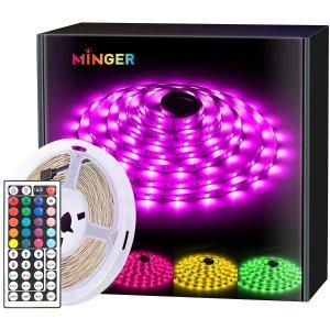 MINGER Waterproof 16.4ft RGB Color Changing LED Strip Light Full Kit