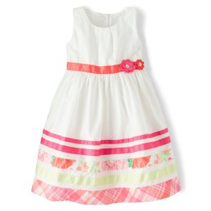 GymboreeGirls Sleeveless Border Striped Poplin Dress - Fairy Blossom