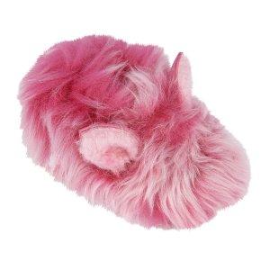 UGG®粉色毛绒拖鞋