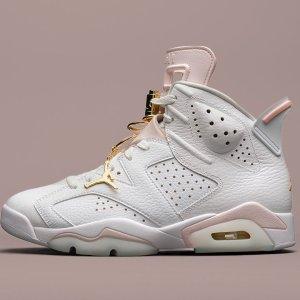 """7月1日发售 定价€189.99预告:Nike Air Jordan 6 """"Gold Hoops""""白粉配色 女生专属球鞋"""
