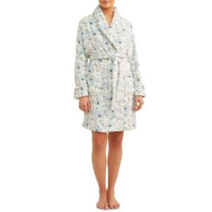 $8.5 Cervantes Women's Water Color Printed Velvet Robe