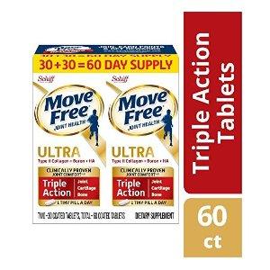 $25.47(原价$29.97)Move Free Ultra 骨胶原维骨力 30粒2瓶 1天1粒强效款