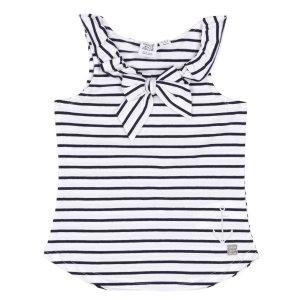 7女童海军条纹无袖衫