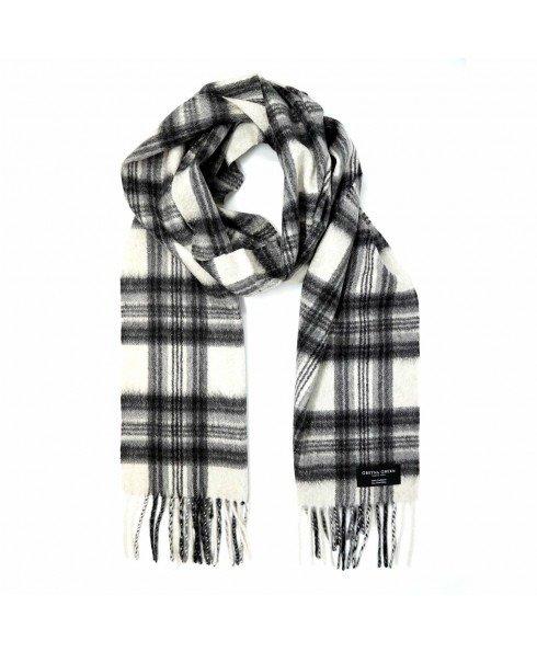 黑白格纹围巾
