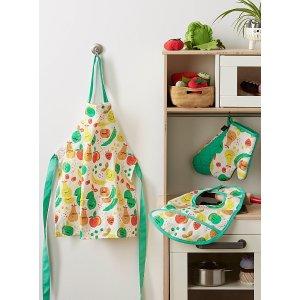 水果图案围裙 隔热垫