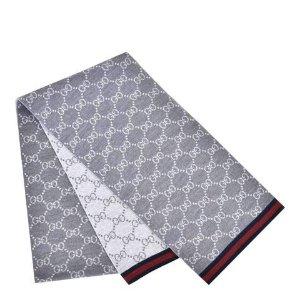 Gucci老花围巾