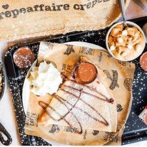 给生活加点甜 全英9家分店可选Crêpeaffaire 双人可丽饼套餐 £13起