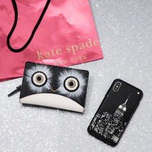低至$25 收大眼睛企鹅kate spade 精选钱包卡包特卖