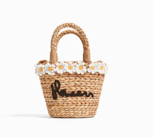 MINI STRAW BASKET WITH DAISIES - BAGS AND BACKPACKS-SALE-GIRL | 5 - 14  years-KIDS | ZARA United States