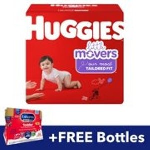 HuggiesFREE Enfagrow NeuroPro Toddler Bottles with Purchase of Huggies Little Movers Diapers (Size 4, 144ct)