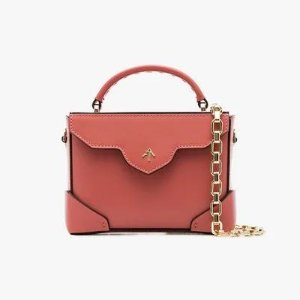 Manu Ateliersalmon pink Micro Bold leather box bag