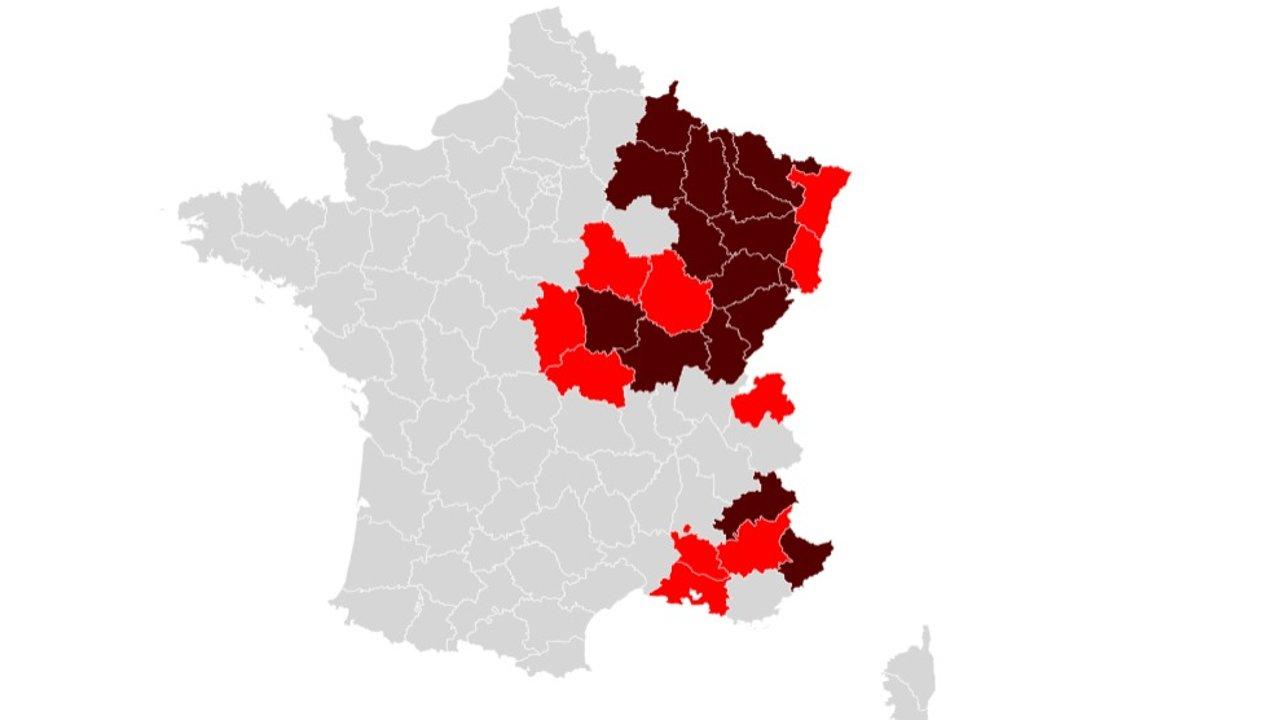 法国新冠肺炎实时动态:今日死亡新增286例!敦刻尔克周末封城;17%年轻人或已感染新冠;尼斯地区将禁足两周;法国多地变种病毒达到70%以上!