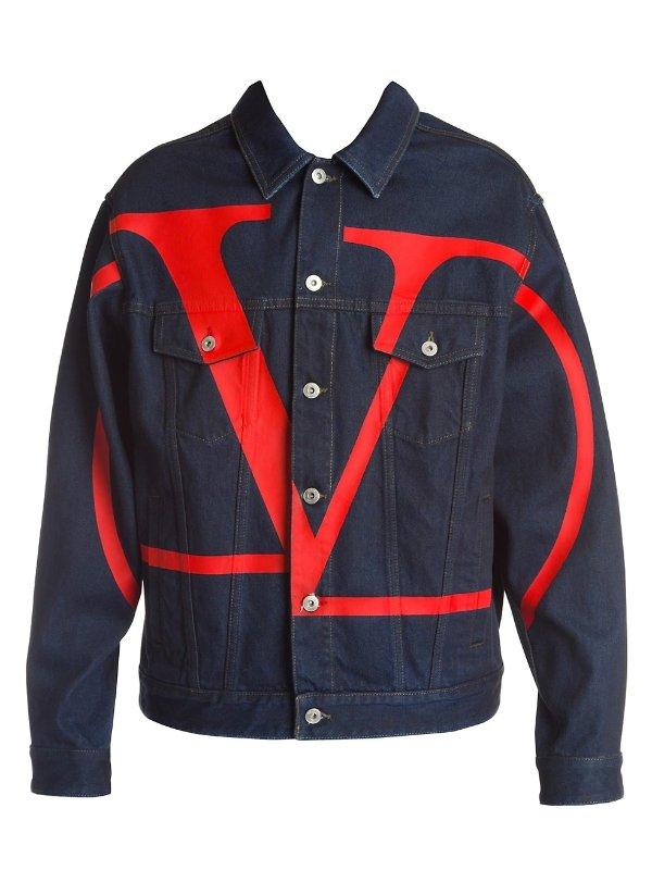 logo牛仔外套