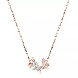 Swarovski 水晶蝴蝶项链