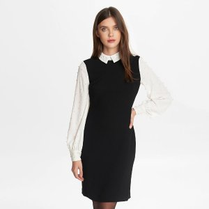 JUMPER DRESS WITH PEARLS