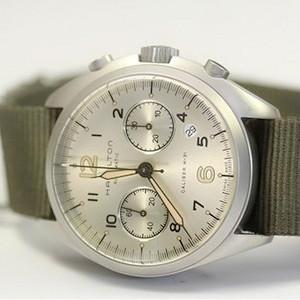 $698Hamilton Men's Khaki Aviation Pilot Pioneer Auto Chrono Watch  Model: H76456955