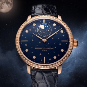 Extra $50 OffDealmoon Exclusive: Frederique Constant Moonphase Automatic Diamond Ladies Watch FC-701NSD3SD4