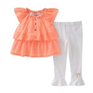 $6.46起Juicy Couture 女童上衣+打底裤套装