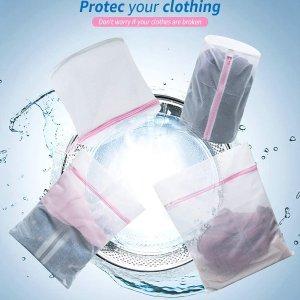 6件套仅€7.99 含内衣袋精致猪猪必备洗衣袋 衣物不变形 再也不怕机洗甩干啦