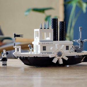 米奇带你环游世界限今天:无门槛89折+免运费 Lego x Disney 鼠年特别版蒸汽邮轮