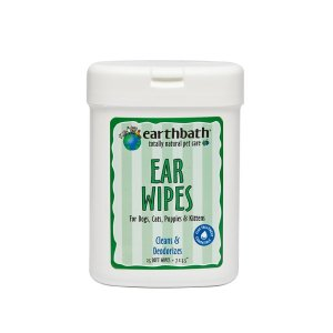 Earthbath Ear Wipes for Dogs & Cats, 25 count - Chewy.com