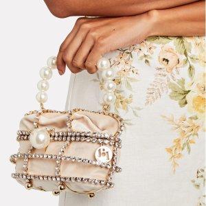 RosanticaDucas 水钻珍珠手提包