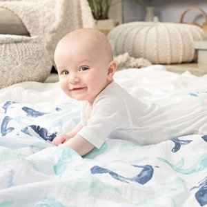 低至5.7折aden + anais 多款儿童经典纱布巾、围兜等促销
