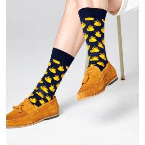 Happy Socks$50享9折,$65享8.5折小黄鸭袜子