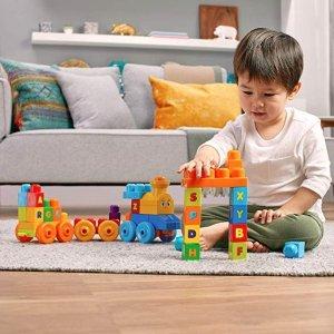 $14.99史低价:Mega Bloks 字母音乐儿童益智小火车套装