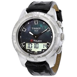 Extra $100 OffTissot T-Touch II Black Mother of Pearl Unisex Watch