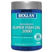 $12.99(原价$35.99) 高含量,效果更佳Bioglan 无味超级鱼油胶囊 200粒 2000mg