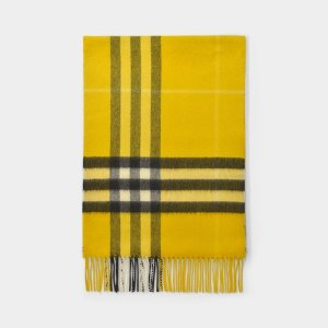 BurberryGiant Icon Scarf in Gorse Yellow Cashmere