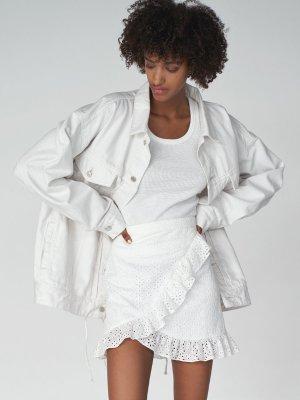 Oversized Lace-Up Jean Jacket